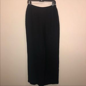 Talbots Black Flowy Wide Leg Silk Pants